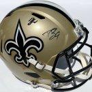 Drew Brees & Zion Williamson Autographed Signed New Orleans Saints FS Helmet PSA