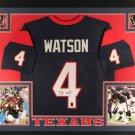 Deshaun Watson Autographed Signed Framed Houston Texans Jersey JSA