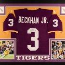 Odell Beckham Jr. Autographed Signed Framed LSU Tigers Jersey JSA