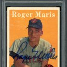 Roger Maris Signed Autographed 1958 Topps Rookie Card PSA