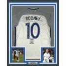 Wayne Rooney Autographed Framed England Soccer Jersey BECKETT
