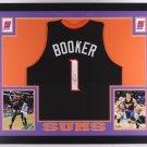 Devin Booker Autographed Signed Framed Phoenix Suns Jersey JSA