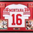 Joe Montana Autographed Signed Framed San Francisco 49ers Jersey JSA