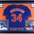 Noah Syndergaard Autographed Signed New York Mets Framed Jersey JSA