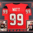 JJ Watt Autographed Signed Framed Houston Texans Jersey JSA