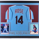 Pete Rose Autographed Signed Philadelphia Phillies Framed Jersey COA