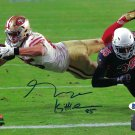George Kittle Autographed Signed San Francisco 49ers Logo 8x10 Photo BECKETT