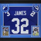 Edgerrin James Autographed Signed Framed Indianapolis Colts Jersey JSA