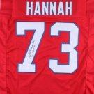 John Hannah Autographed Signed New England Patriots Jersey JSA