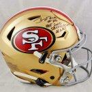 Jerry Rice Autographed Signed San Francisco 49ers SpeedFlex Helmet BECKETT