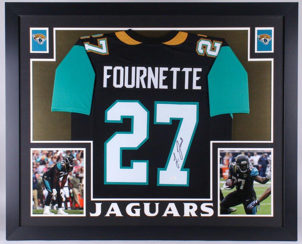 Leonard Fournette Autographed Signed Framed Jacksonville Jaguars Jersey JSA
