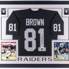 Tim Brown Autographed Signed Framed Oakland Raiders Jersey JSA