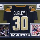Todd Gurley Autographed Signed Los Angeles Rams Framed Jersey JSA