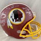 Riggins Rypien & Williams Autographed Signed Washington Redskins FS Helmet JSA