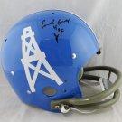 Earl Campbell Signed Autographed Houston Oilers TB FS Helmet JSA