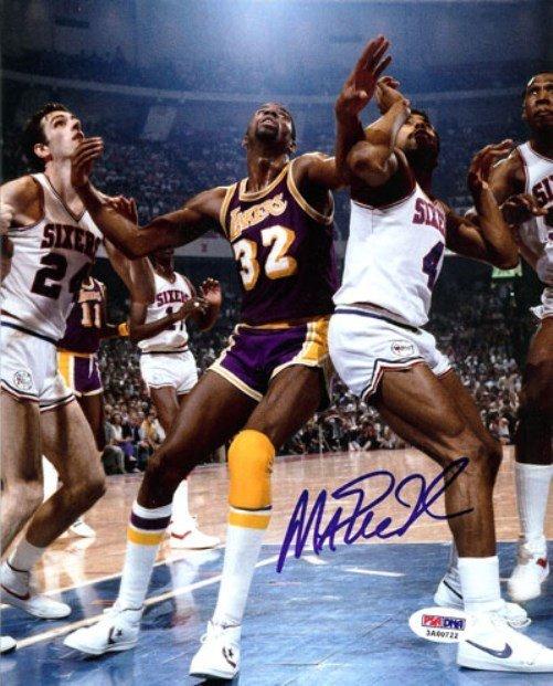 Magic Johnson Autographed Signed Los Angeles Lakers 8x10 Photo PSA
