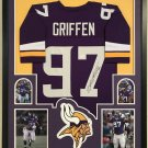 Everson Griffen Autographed Signed Minnesota Vikings Framed Jersey JSA