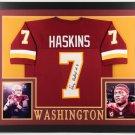 Dwayne Haskins Autographed Signed Washington Redskins Framed Jersey JSA