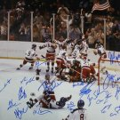 1980 Miracle On Ice Team USA 18 Sigs Autographed Signed 16x20 Photo JSA