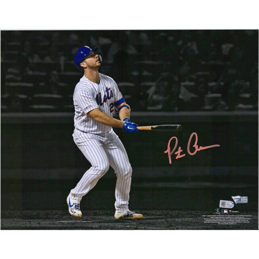 Pete Alonso Mets Autographed Signed 11x14 Photo FANATICS