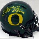 Justin Herbert Autographed Signed Oregon Ducks Speed Mini Helmet BECKETT