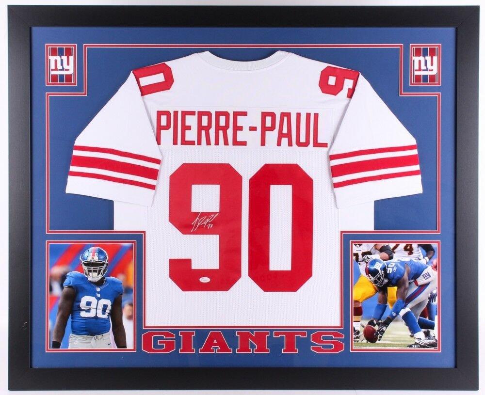 Jason Pierre-Paul Autographed Signed Framed New York Giants Jersey JSA
