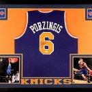 Kristaps Porzingis Autographed Signed Framed New York Knicks Jersey JSA