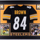 Antonio Brown Autographed Signed Pittsburgh Steelers Framed Jersey JSA