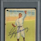 "Vernon ""Lefty"" Gomez Yankees Autographed Signed 1933 Goudey Rookie Card PSA"