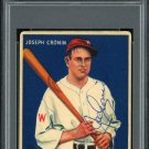 Joe Cronin Senators Autographed Signed 1933 Goudey Rookie Card PSA
