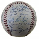 1958 Milwaukee Braves Team (Aaron, Spahn, Mathews + 20) Signed Autographed Baseball JSA