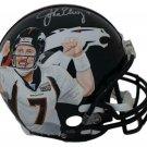 John Elway Autographed Signed Denver Broncos Painted Proline Helmet JSA