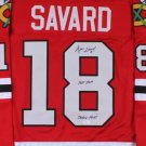 Denis Savard Autographed Signed Chicago Blackhawks Jersey JSA