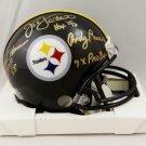 Lambert Ham Russell Autographed Signed Pittsburgh Steelers Mini Helmet JSA