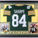 Sterling Sharpe Autographed Signed Green Bay Packers Framed Jersey BECKETT