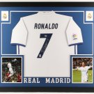 Cristiano Ronaldo Signed Autographed Framed Real Madrid Jersey BECKETT