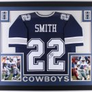Emmitt Smith Autographed Signed Dallas Cowboys Framed Jersey BECKETT