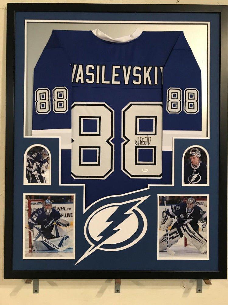 Andrei Vasilevskiy Autographed Signed Tampa Bay Lightning Framed Jersey JSA