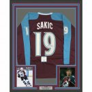 Joe Sakic Signed Autographed Framed Colorado Avalanche Jersey BECKETT