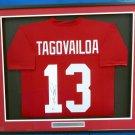 Tua Tagovalioa Autographed Signed Framed Alabama Crimson Tide Jersey BECKETT