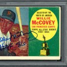 Willie McCovey Giants Autographed Signed 1960 Topps Rookie Card PSA