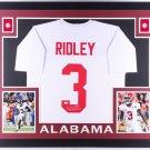 Calvin Ridley Falcons Autographed Signed Alabama Crimson Tide Framed Jersey JSA
