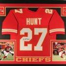 Kareem Hunt Signed Autographed Kansas Chiefs Framed Jersey JSA