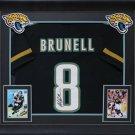 Mark Brunell Autographed Signed Framed Jacksonville Jaguars Jersey JSA