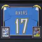 Lance Alworth Autographed Signed Chargers Framed Jersey BECKETT