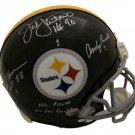 Lambert Ham Russell Autographed Signed Pittsburgh Steelers Proline Helmet JSA