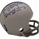 Lenny Moore & Raymond Berry Autographed Signed Baltimore Colts Mini Helmet OA COA