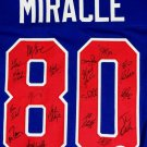 1980 Miracle On Ice Team USA 19 Signatures Autographed Signed Jersey JSA
