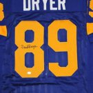 Fred Dryer Autographed Signed Los Angeles Rams Jersey SGC