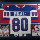 1980 Miracle On Ice Team USA 15 Sigs Autographed Signed Framed Jersey JSA